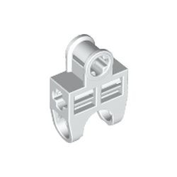 White Technic, Axle Connector 2 x 3 with Ball Joint Socket, Open Sides
