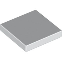 White Tile 2 x 2 with Groove