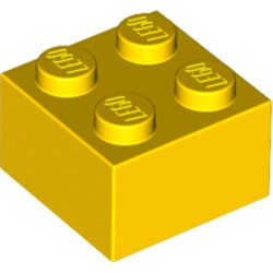 Yellow Brick 2 x 2 - new