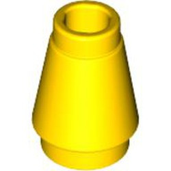 Yellow Cone 1 x 1 with Top Groove