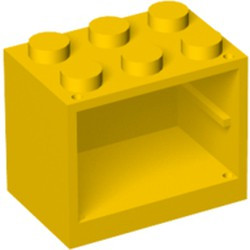 Yellow Container, Cupboard 2 x 3 x 2 - Solid Studs