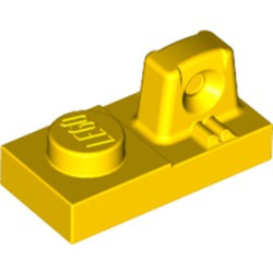 Yellow Hinge Plate 1 x 2 Locking with 1 Finger On Top
