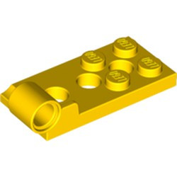 Yellow Hinge Plate 2 x 4 with Pin Hole and 3 Holes - Bottom