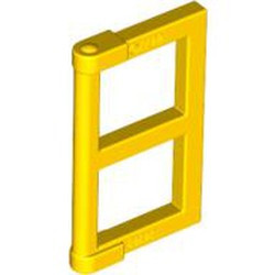 Yellow Pane for Window 1 x 2 x 3 with Thick Corner Tabs - used