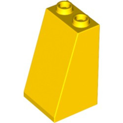 Yellow Slope 75 2 x 2 x 3 - Hollow Studs - used