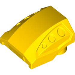 Yellow Slope, Curved 2 x 2 with 3 Side Ports Recessed