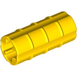 Yellow Technic, Axle Connector 2L (Ridged with x Hole x Orientation) - used
