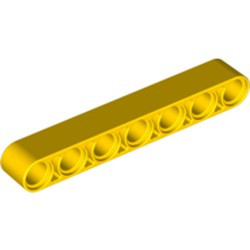 Yellow Technic, Liftarm 1 x 7 Thick - new