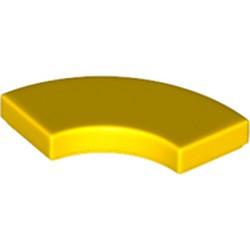 Yellow Tile, Round Corner 2 x 2 Macaroni - new