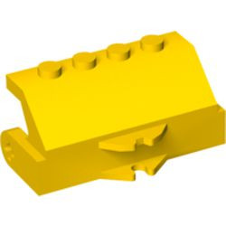 Yellow Vehicle, Brush Holder for Street Sweeper with Tow Ball Socket