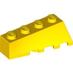 Yellow Wedge 4 x 2 Sloped Left