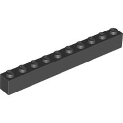 Black Brick 1 x 10 - new