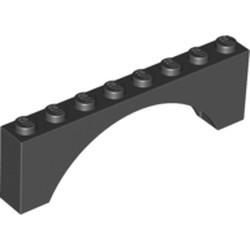 Black Brick, Arch 1 x 8 x 2 - used