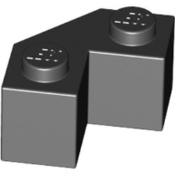 Black Brick, Modified Facet 2 x 2 - used