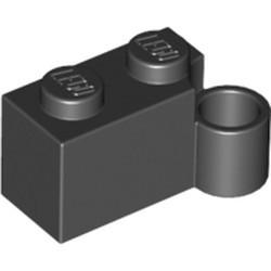 Black Hinge Brick 1 x 4 Swivel Base