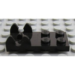 Black Hinge Plate 2 x 4 - Female (Digger Bucket Holder)