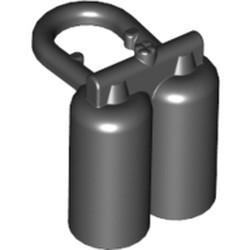 Black Minifigure, Airtanks - used
