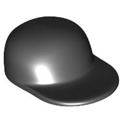 Black Minifigure, Headgear Cap - Long Flat Bill - used