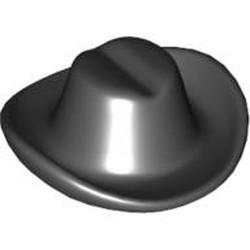Black Minifigure, Headgear Hat, Cowboy