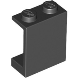 Black Panel 1 x 2 x 2 - Solid Studs - used
