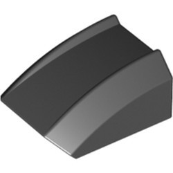 Black Slope, Curved 2 x 2 Lip - new