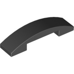 Black Slope, Curved 4 x 1 Double - used