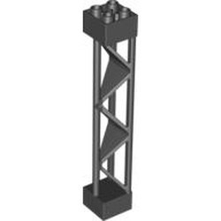 Black Support 2 x 2 x 10 Girder Triangular Vertical - Type 1 - Solid Top, 3 Posts - used