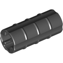 Black Technic, Axle Connector 2L (Ridged with x Hole x Orientation) - used