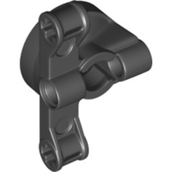 Black Technic, Steering Wheel Hub Holder with 2 Pin Holes and 2 Arms with Axle Holes