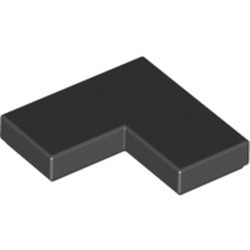 Black Tile 2 x 2 Corner