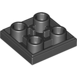 Black Tile, Modified 2 x 2 Inverted - new