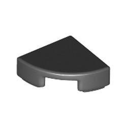 Black Tile, Round 1 x 1 Quarter - used