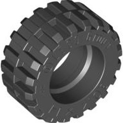 Black Tire 30.4 x 14 Offset Tread - Band Around Center of Tread - new