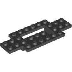 Black Vehicle, Base 4 x 10 x 2/3 with 4 x 2 Recessed Center with Smooth Underside - new