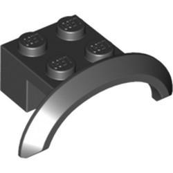 Black Vehicle, Mudguard 4 x 2 1/2 x 1 with Arch Round