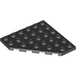Black Wedge, Plate 6 x 6 Cut Corner - used