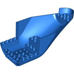 Blue Aircraft Fuselage Aft Section Curved Bottom 8 x 16 with 2 Holes