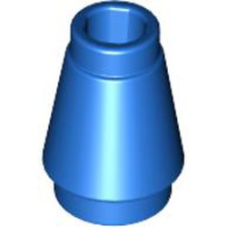 Blue Cone 1 x 1 with Top Groove - used