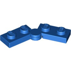 Blue Hinge Plate 1 x 4 Swivel Base with Same Color Hinge Plate 1 x 4 Swivel Top (2429 / 2430) - new