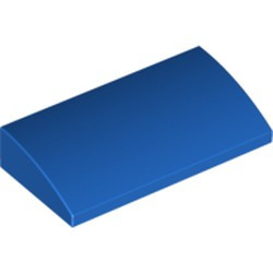 Blue Slope, Curved 2 x 4 x 2/3 with Bottom Tubes - new
