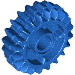 Blue Technic, Gear 20 Tooth Double Bevel with Clutch on Both Sides