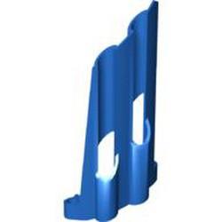Blue Technic, Panel Fairing # 4 Large Long, Large Holes, Side B