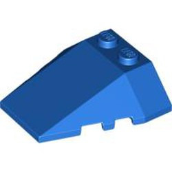 Blue Wedge 4 x 4 Triple with Stud Notches