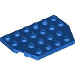 Blue Wedge, Plate 4 x 6 Cut Corners - new