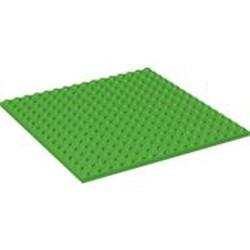 Bright Green Plate 16 x 16