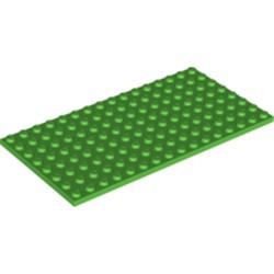 Bright Green Plate 8 x 16 - used