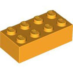 Bright Light Orange Brick 2 x 4