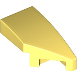 Bright Light Yellow Wedge 2 x 1 x 2/3 with Stud Notch Right