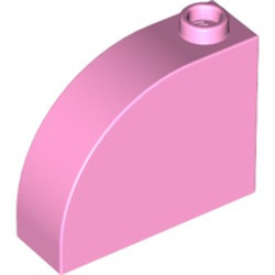 Bright Pink Slope, Curved 3 x 1 x 2 with Stud - used