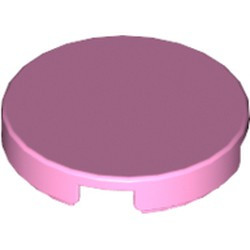 Bright Pink Tile, Round 2 x 2 - used